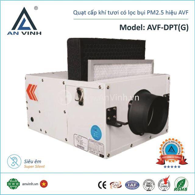 Quạt cấp khí tươi lọc bụi PM2.5 hiệu AVF Model: AVF-DPT(G)