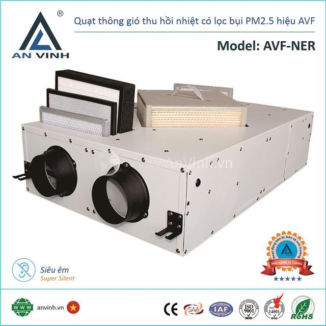 Quạt thông gió thu hồi nhiệt lọc bụi PM2.5 hiệu AVF Model: AVF-NER