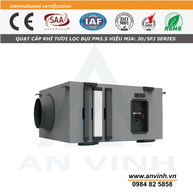 Quạt cấp khí tươi lọc bụi PM2.5 hiệu MIA model: JD-SFJ Series